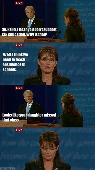 filmvisuality:   heytherehypocrit:  monicagellerb:  toscanoirriverente:florencio:Sarah Palin Gets Schooled   All political debates should include a ZING! moment. Compulsory. Someone pass that legislation.