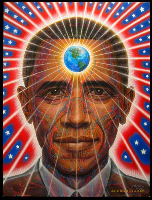 Barack Obama, by Alex Grey